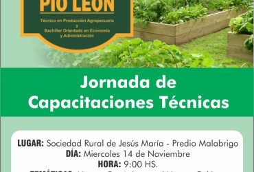 Agro-jornada de capacitaciones técnicas 2018