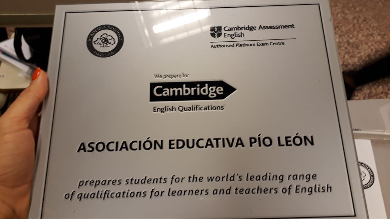 Reconocimiento en formación de idioma Inglés